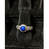 Medieval Ring - 6mm Lapis Lazuli and Silver - Adjustable