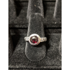 Medieval Ring - 7mm Garnet and Silver - Adjustable