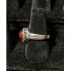 Medieval Ring - 8mm Carnelian and Silver - Adjustable