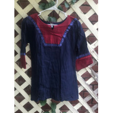 Boy's AS Tunic - M/10 Navy and Berry