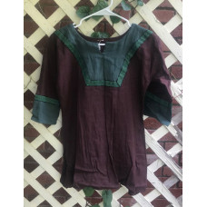 Boy's AS Tunic - M/10 Dark Brown and Forest Green