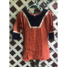 Boy's AS Tunic - M/10 Orange and Midnight Blue