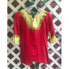 Boy's AS Tunic - M/10 Red and Yellow