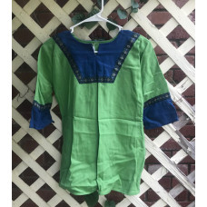 Boy's AS Tunic - S/6-8 Apple Green and Bright Blue