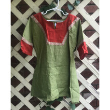 Boy's AS Tunic - XS/4 Light Green and Pumpkin