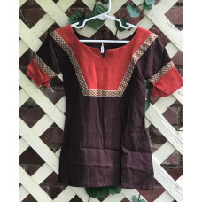 Boy's AS Tunic - XXS/2T Brown and Pumpkin