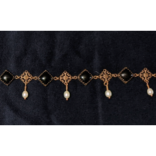 Burgundian Collar - Black Onyx and Copper