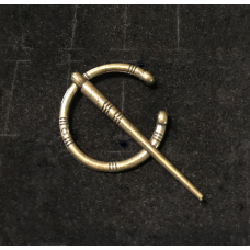 Small Penannular Brooch - Brass