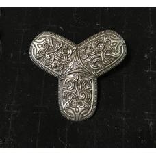 Zoomorphic Tri-Lobe Viking Brooch