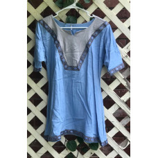 Girl's AS Overtunic - L/12 Light Blue and Silver