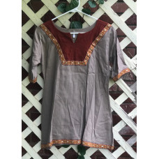 Girl's AS Overtunic - M/10 Mocha and Rust