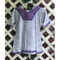 Girl's AS Overtunic - S/6-8 Silver and Purple