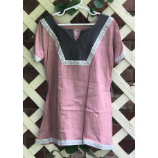 Girl's AS Overtunic - XS/4 Dusty Pink and Grey