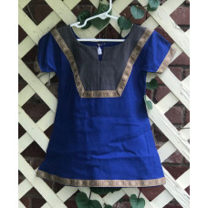 Girl's AS Overtunic - XXS/2T Royal and Charcoal