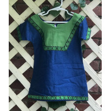Girl's AS Overtunic - XXS/2T Bright Blue and Light Green