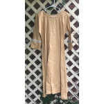 "Girl's AS Undertunic - L 12 Dark Yellow 44"" Linen"