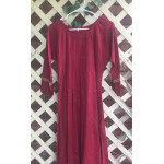 "Girl's AS Undertunic - L 12 Wine Red 36"" Linen"