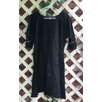 "Girl's AS Undertunic - L 12 Black 33"" Linen"