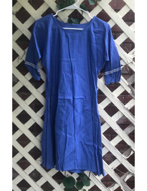 "Girl's AS Undertunic - L 12 Light Royal 33"" Linen"