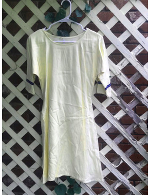 "Girl's AS Undertunic - L 12 Pale Yellow 33"" Linen"