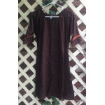 "Girl's AS Undertunic - L 12 Red Brown 33"" Linen"
