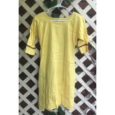 Girl's AS Undertunic - M 10 Yellow Linen