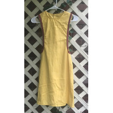 Girl's Surcoat - Small/6-8 Yellow Linen