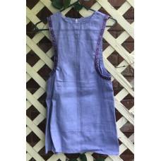 Girl's Surcoat - XS/4 Light Purple Linen