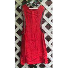 Girl's Surcoat - XS/4 Red Linen