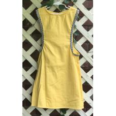 Girl's Surcoat - XS/4 Yellow Linen