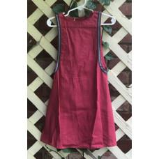 Girl's Surcoat - XXS/2T Dark Rose Linen