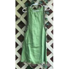 Girl's Surcoat - XXS/2T Green Linen