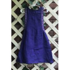 Girl's Surcoat - XXS/2T Purple Linen