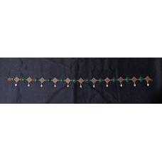 Burgundian Collar - Green Onyx and Copper