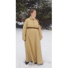 Women's Houppelande - Gold Brocade - Size 14