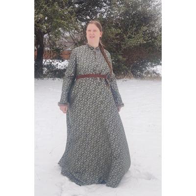 Women's Houppelande - Green/Silver Sartor - Size 16
