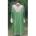 Men's AS Tunic - 2X Apple Green and Pale Yellow Linen