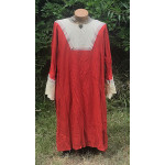 Men's AS Tunic - 2X Rust and Yellow Linen