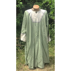 Men's AS Tunic - 3X Dark Sage and Cream Linen