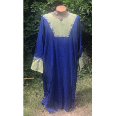 Men's AS Tunic - 3X Royal and Light Green Linen
