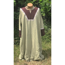 Men's AS Tunic - 4X Light Sage and Brown Linen