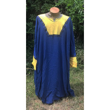 Men's AS Tunic - 4X Royal Blue and Yellow Linen