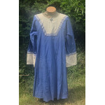 Men's AS Tunic - L Light Royal and Natural Linen