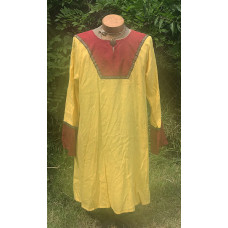 Men's AS Tunic - M Yellow and Berry Linen