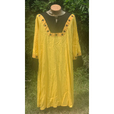 Men's AS Tunic - XL Ansteorra-Yellow and Black Linen