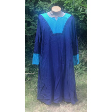 Men's AS Tunic - XL Dark Royal and Aqua Linen