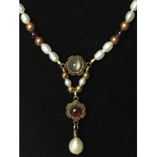 Late Medieval Necklace - Multi-Garnet and Pearl
