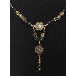 Late Medieval Necklace - Multi-Moonstone and Jet
