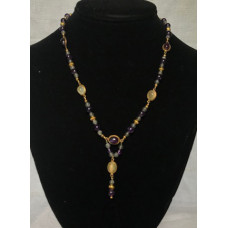 Late Medieval Necklace - Amethyst and Moonstone 1