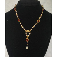 Late Medieval Necklace - Garnet and Pearl